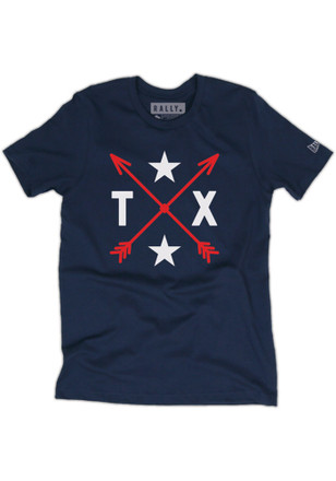 RALLY Texas Local Stuff Shop Mens Navy Blue Arrows Fashion Tee
