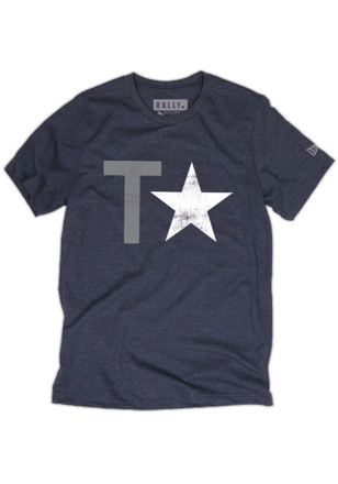 RALLY Texas Local Stuff Shop Mens Navy Blue T Stars Fashion Tee