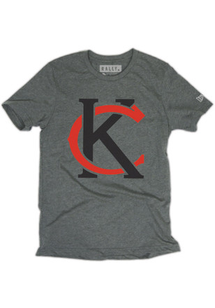 RALLY Kansas City Local Stuff Mens Grey Monogram Fashion Tee