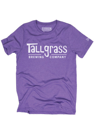 RALLY Mens Tallgrass Brewing Purple Logo Fashion Tee
