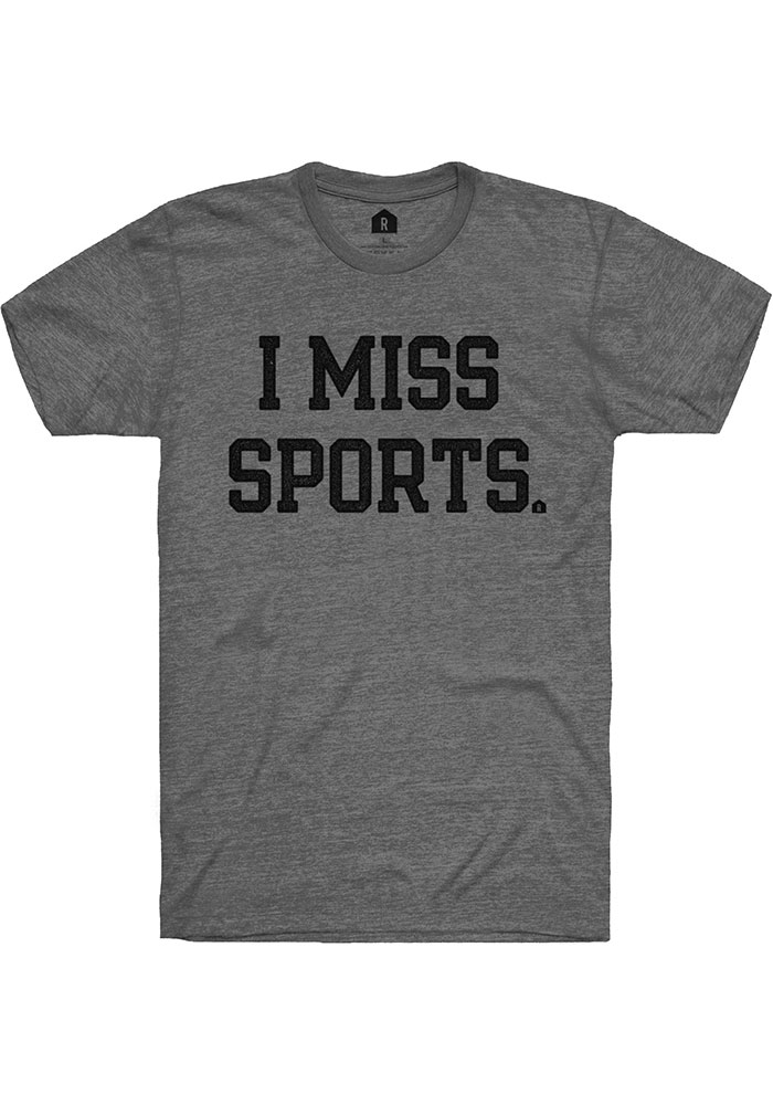Rally Deep Heather Grey I Miss Sports SS Fashion Tee