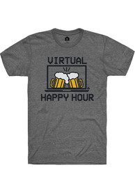Rally Heather Graphite Virtual Happy Hour SS Fashion Tee