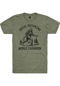 Rally Military Green Social Distancing World Champ Short Sleeve T Shirt