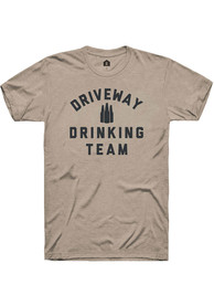 Rally Heather Tan Driveway Drinking Team Short Sleeve T Shirt