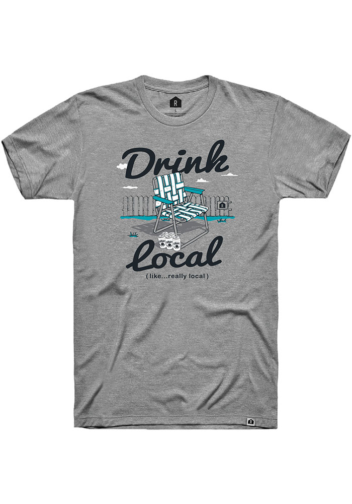 Rally Grey Drink Local Lawn Chair Short Sleeve T Shirt - Image 1