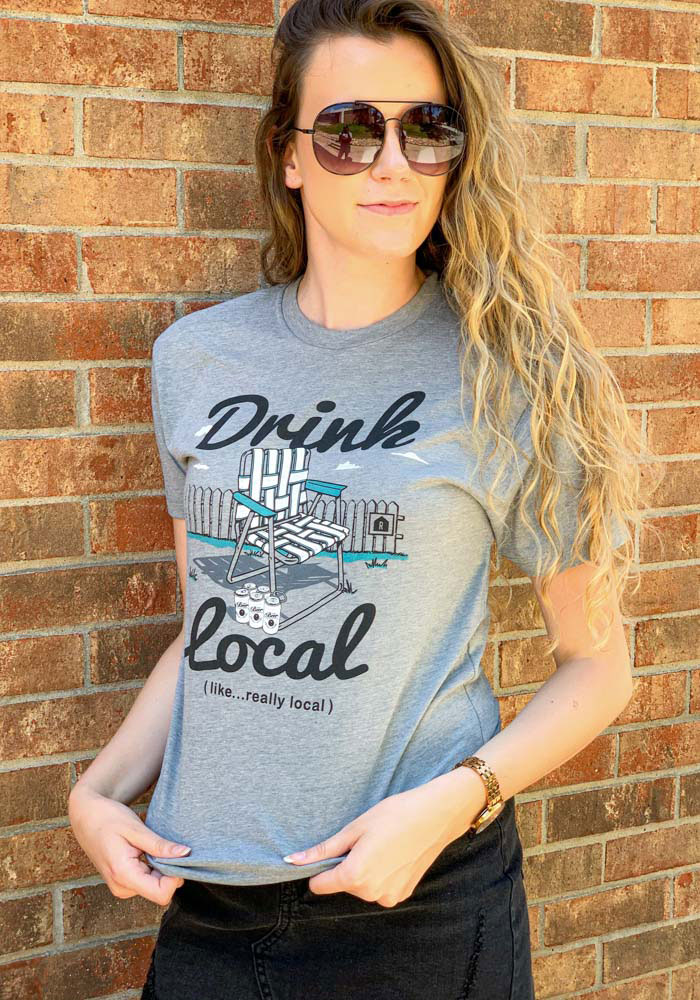 Rally Grey Drink Local Lawn Chair Short Sleeve T Shirt - Image 2