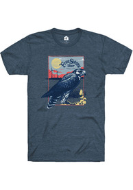 Free State Brewing Co. Navy Kansas Landscape Short Sleeve T-Shirt