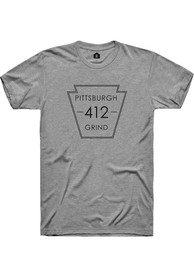 Pittsburgh Dark Heather Grey Area Code Short Sleeve T-Shirt