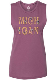 Michigan Women's Shirza Hippie Floral Muscle Tank Top