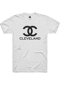 Cleveland Women's City Wordmark Unisex Short Sleeve T-Shirt - White