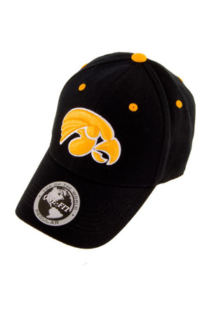 Top of the World Iowa Hawkeyes Mens Black One-Fit Flex Hat