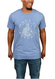Detroit Local Stuff Shop Mens Blue Made In Tee