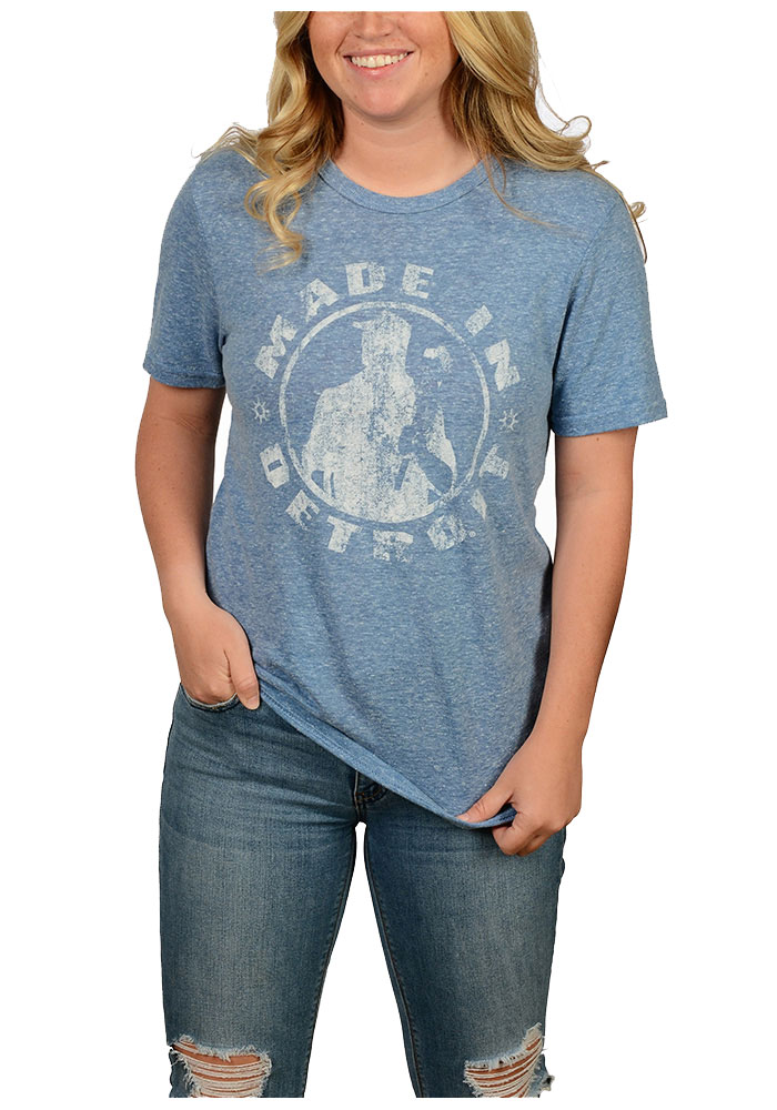 Made In Detroit Detroit Blue Made In Short Sleeve T Shirt - Image 2