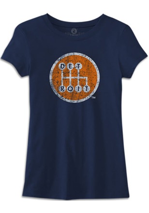 Detroit Womens Made In Tee Navy Blue T-Shirt