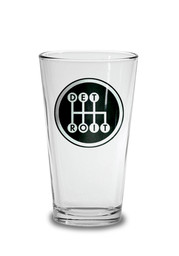Detroit Black Shifter Pint Glass