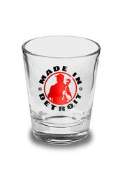 Made in Detroit Red & Black Shot Glass