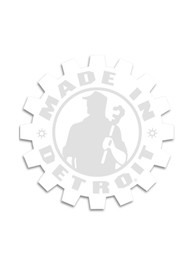 Made In Detroit Detroit Made In Detroit White 6X6 Auto Decal - White