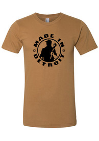 Made In Detroit Camel Brown Made In Short Sleeve T-Shirt