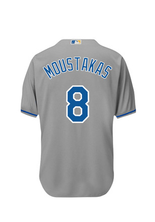Mike Moustakas KC Royals Mens grey Player Replica Jersey