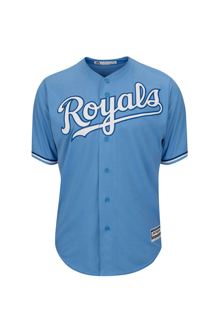 Salvador Perez 13 Kansas City Royals Mens Powderblue Player Replica Jersey - Image 2