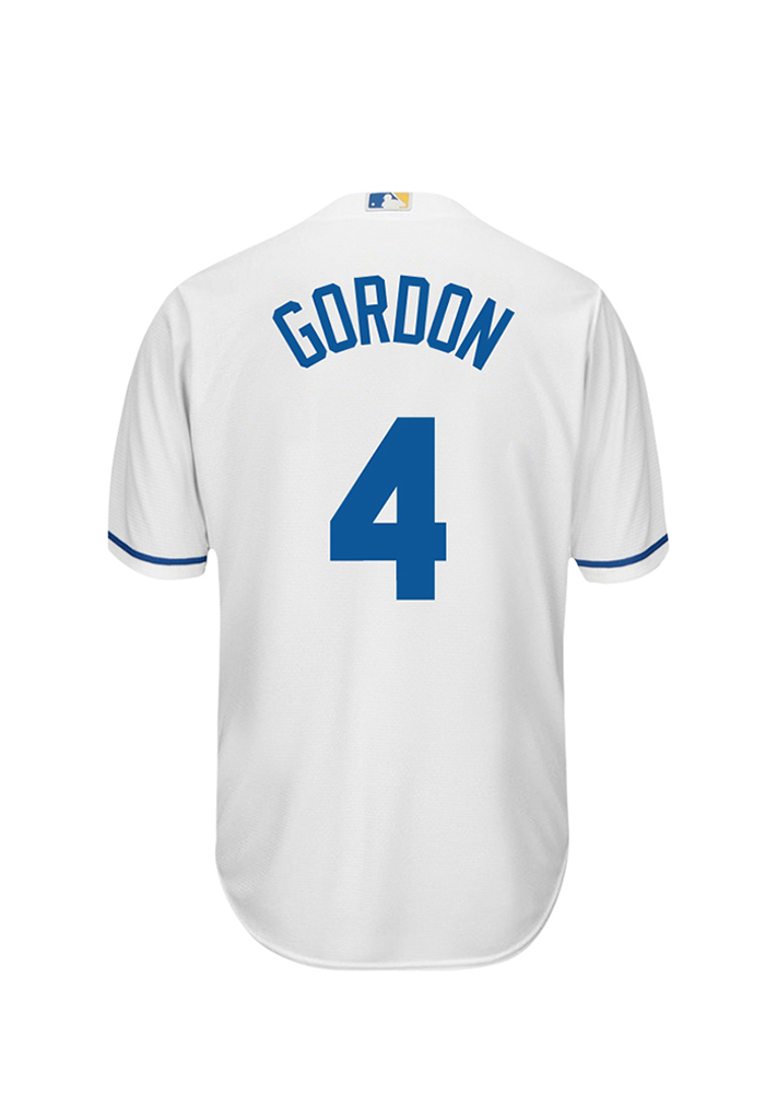 Alex Gordon 4 Kansas City Royals Mens White Player Replica Jersey - Image 1
