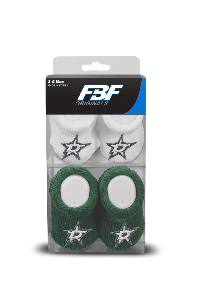 Dallas Stars 2pk Knit Baby Bootie Boxed Set - Image 1