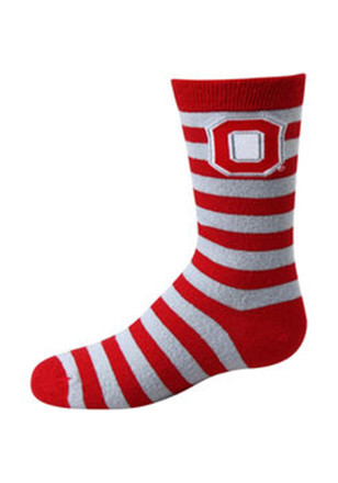Ohio State Buckeyes Rugby Stripe Toddler Quarter Socks