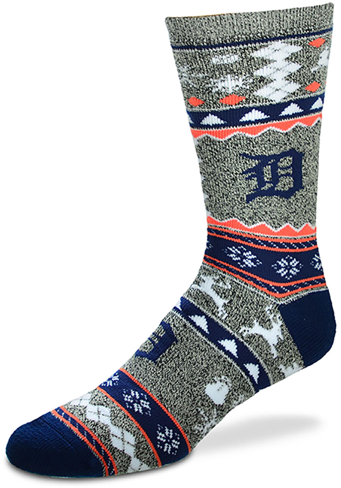 Detroit Tigers Ugly Sweater Mens Crew Socks - Image 1