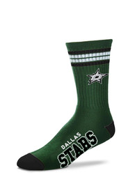 Dallas Stars Duece Four Stripe Crew Socks - Green