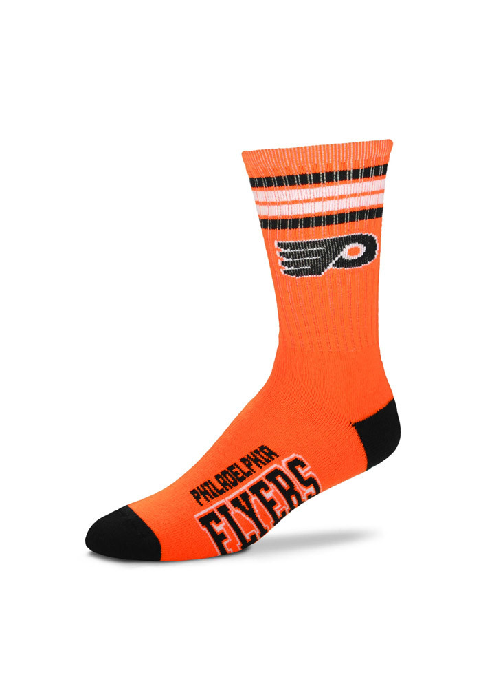 Philadelphia Flyers Duece Four Stripe Mens Crew Socks - Image 1