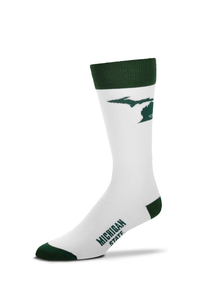 Michigan State Spartans Game Day Womens Crew Socks - Image 1