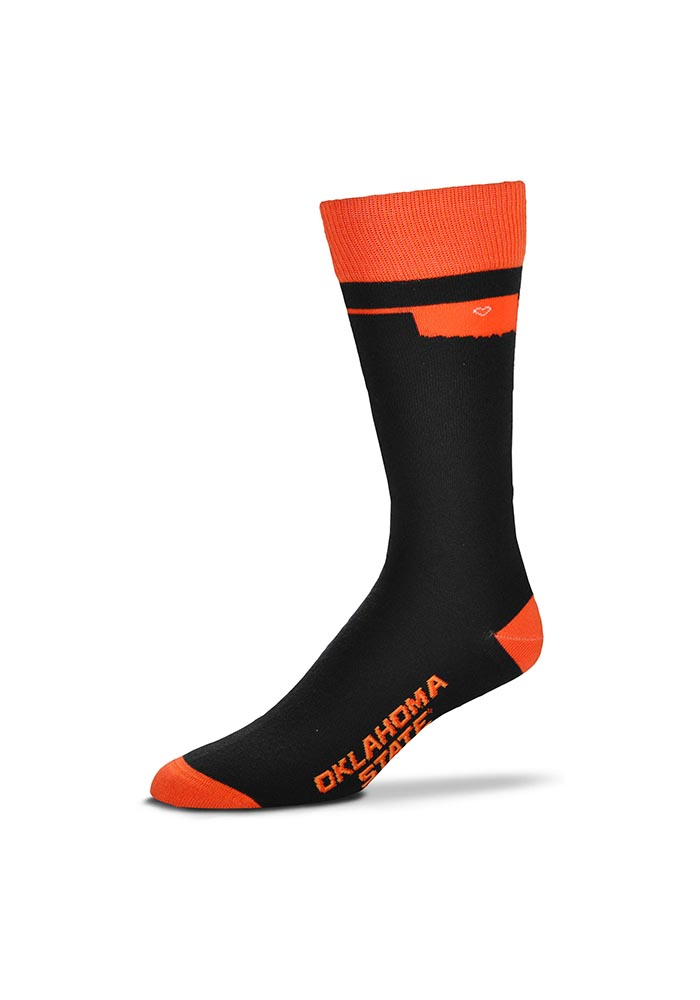 Oklahoma State Cowboys Game Day Womens Crew Socks - Image 1