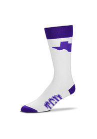 TCU Horned Frogs Game Day Dress Socks - White