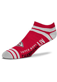 Kansas City Chiefs Womens Super Bowl LIV Champions No Show Socks - Red