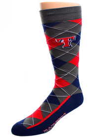 Texas Rangers Argyle Zoom Argyle Socks - Blue