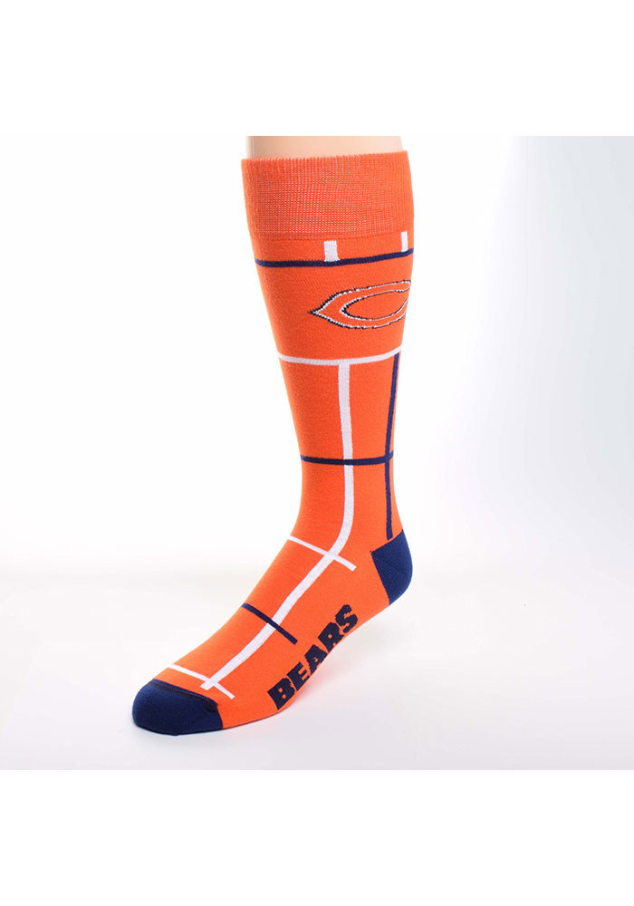 Chicago Bears Square Stripe Mens Dress Socks - Image 1