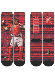 Yadier Molina St Louis Cardinals For Barefeet Originals RMC Player Crew Socks - Red