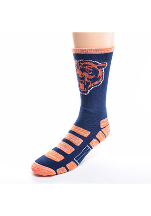 Chicago Bears Mens Navy Blue Patches Crew Socks