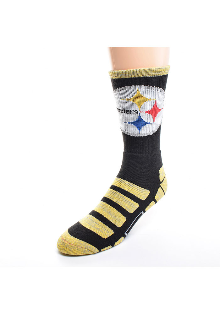 Pittsburgh Steelers Patches Mens Crew Socks - Image 1