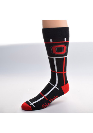 The Ohio State University Square Stripe Dress Socks