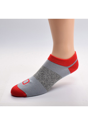 Ohio State Buckeyes Stripe Side Womens No Show Socks