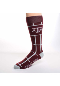 Texas A&M Aggies Square Stripe Dress Socks - Grey