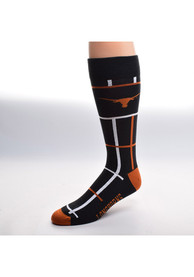 Texas Longhorns Square Stripe Dress Socks - Black