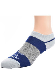 Dallas Cowboys Youth Navy Blue Stripe Side No-Show Socks