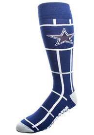 Dallas Cowboys Square Stripe Dress Socks - Navy Blue
