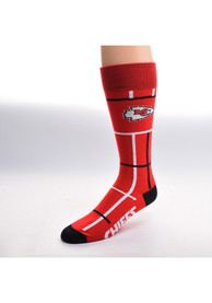 Kansas City Chiefs Square Stripe Dress Socks - Red