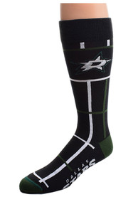 Dallas Stars Square Stripe Dress Socks - Black