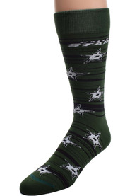 Dallas Stars Swing Stripe Dress Socks - Kelly Green