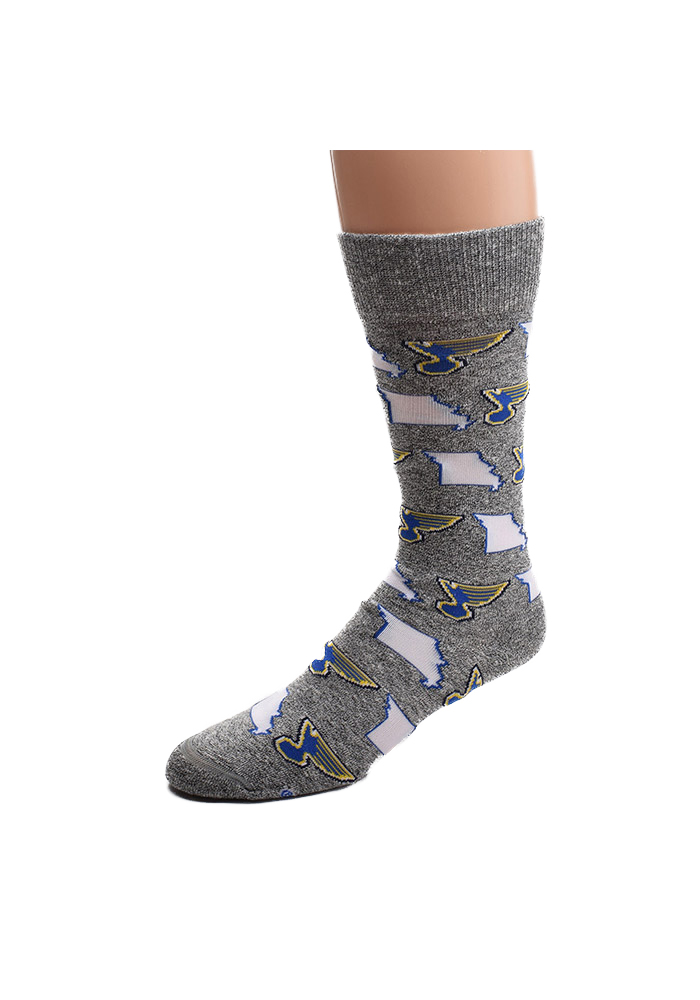 St Louis Blues States and Logos AO Womens Crew Socks