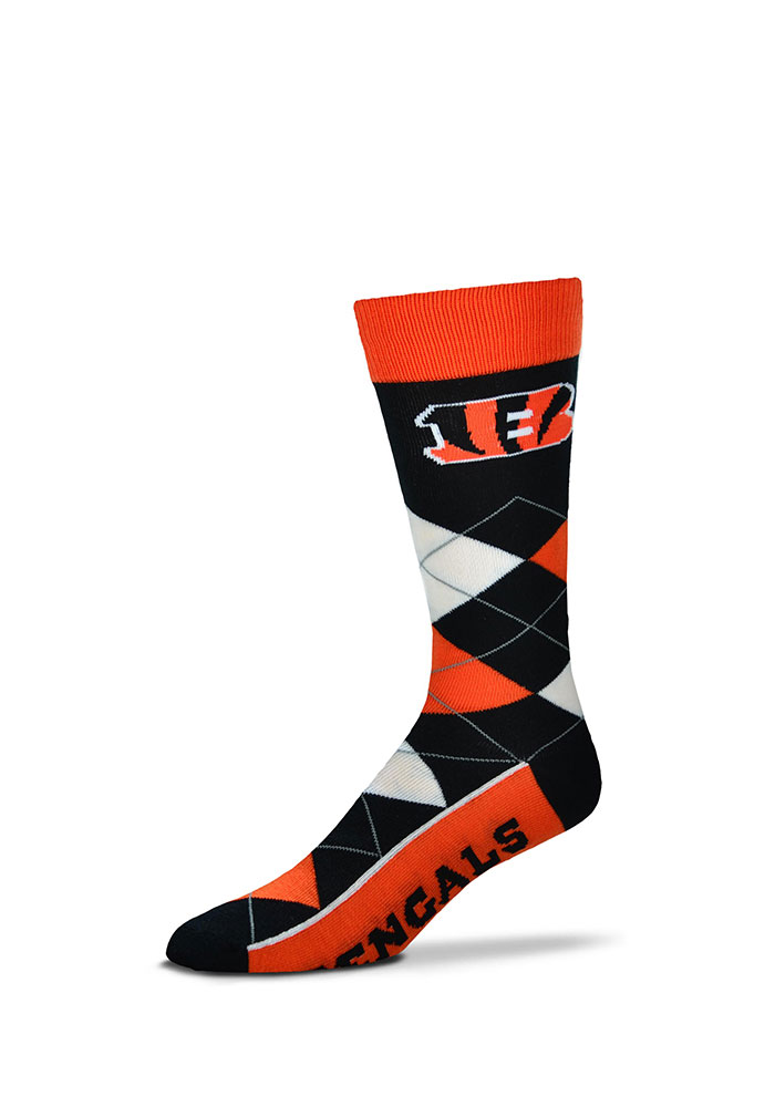 Cincinnati Bengals Team Argyle Socks - Black